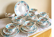 Wileman Bows and Ribbons 21 piece tea set