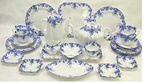 Dainty Blue dessert set