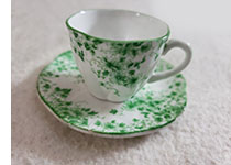 Shelley Dainty Green cup and saucer