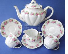 Dainty Tea for Two set Rose pattern