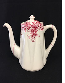 dainty pink coffee pot