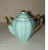shelley wileman daisy blue and gilt coffee pot