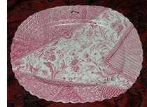 Wileman 'Dolly Varden' pink plate
