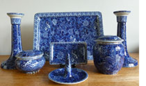 Blue Dragon Dressing Table Set - pattern 8315