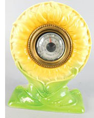 Foley Faience Yellow Sunflower desk thermometer