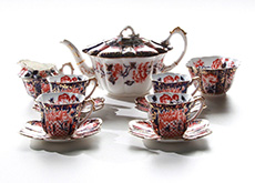 Foley Wileman Imari teaset for 4 persons