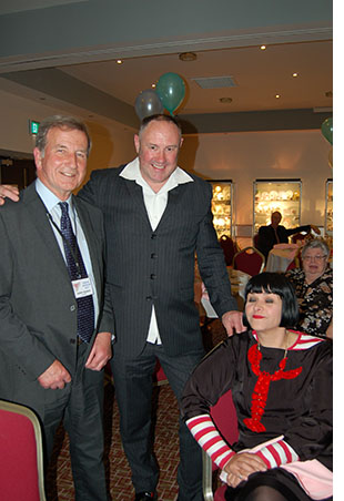 Gerry Pearce, Keith Brymer Jones and Celia Clack