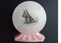 Shelley lamp base  Lucy Dawson Highland Terrier