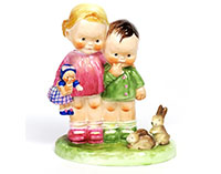 Shelley Mabel Lucie Attwell figurine 'Our Pets'