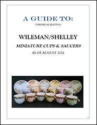 A guide to Wileman/Shelley minature cups and saucers