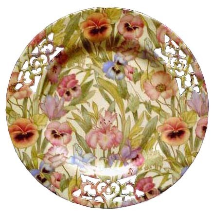 fake Shelley pieced floral plate