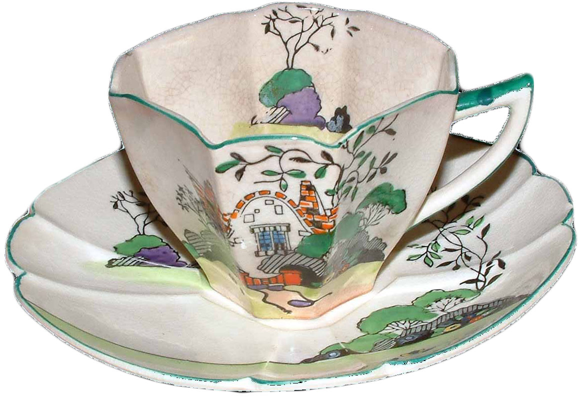 Fake Queen Anne Cottage Cup and Saucer