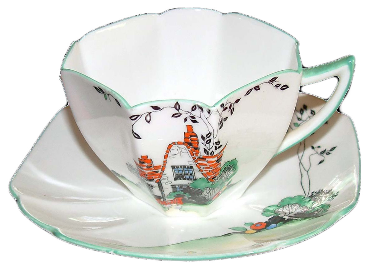 Queen Anne Cottage pattern Cup and Saucer