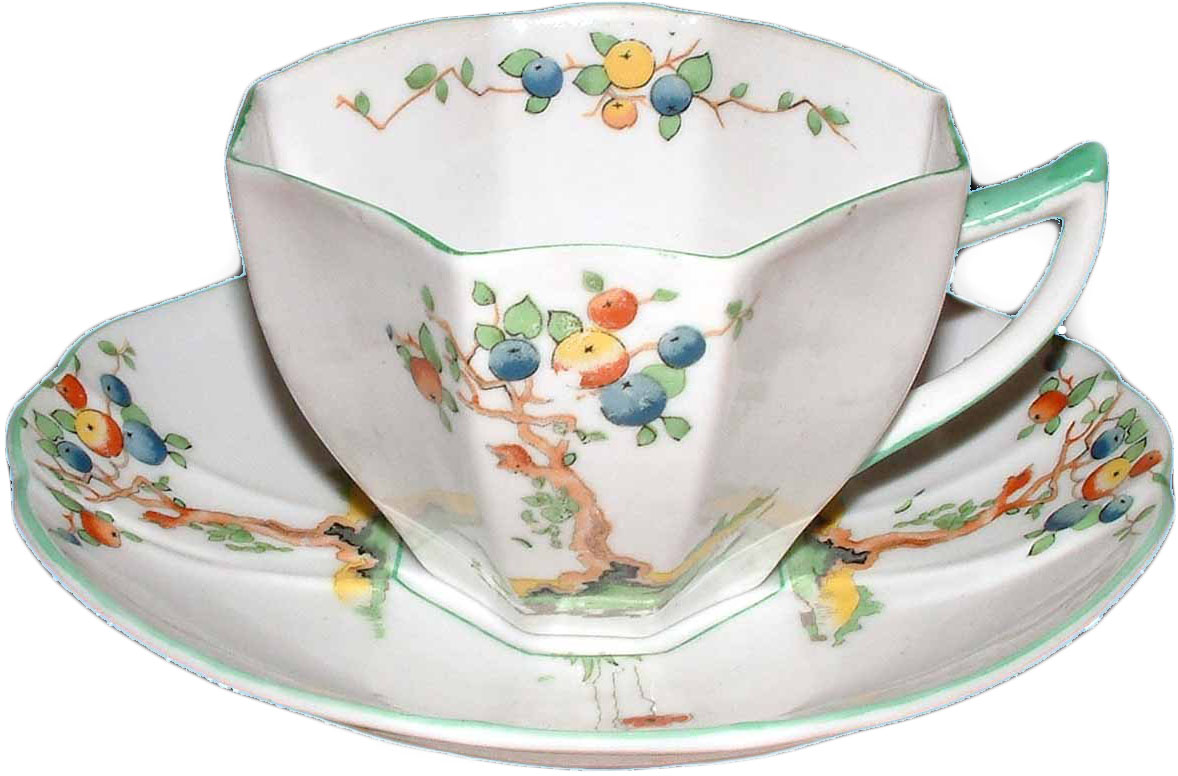 Queen Anne Crabtree pattern cup and saucer