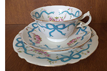 Wileman Royal Ribbons and Bows trio