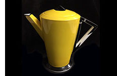 Shelley Vogue coffee pot yellow chevron pattern no 11776/31