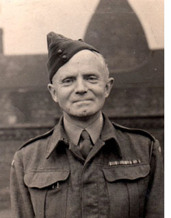 Vincent Bob Shelley in Home Guard Uniform