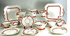 Vogue Coral teaset for six pattern n. 11739