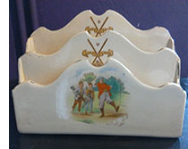 Wileman Faience letter rack - golfing theme