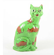 wileman Intarsio cat green