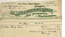 Wileman Oroginal Invoice dated 1912