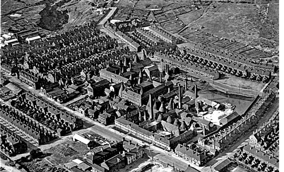Aerial View of Shelley Factory 1939