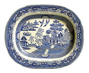 Henry Wileman Willow Pattern Dish