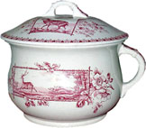 Stag Pattern Chamber Pot