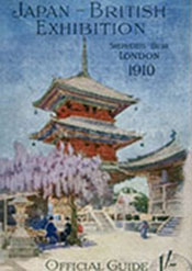 Japan-British exhibition shepherds bush London 1910 official guide cover