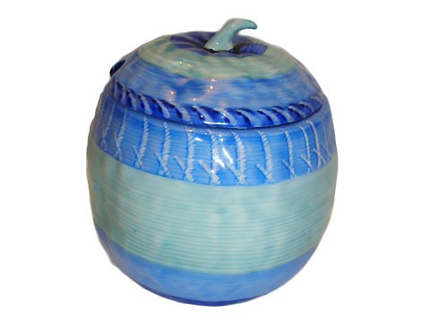 blue preserve pot