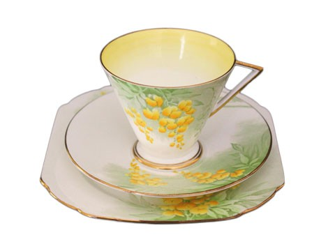 Shelley Eve cup and saucer Laburnum pattern