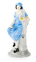 shelley girl advertising figure blue colourway
