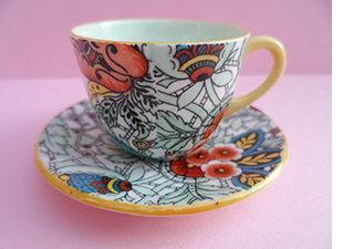 westminster chintz miniature cup and saucer